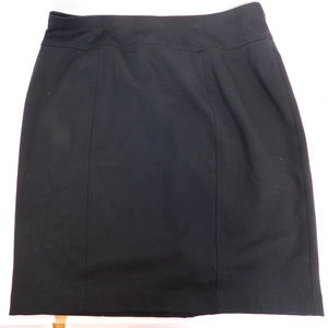 Ellen Tracy Women's Black Mini Skirt L CL2034 1019